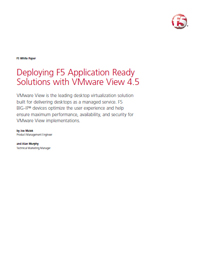Deploying F5 Application Ready Solutions with VMware View
