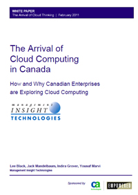 The Arrival of Cloud Computing in Canada