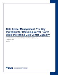 Data Center Management: The Key Ingredient for Reducing Server Power While Increasing Data Center Capacity