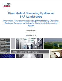 Cisco UCS for SAP Landscapes