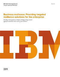 Business resilience: Providing targeted resilience solutions for the enterprise