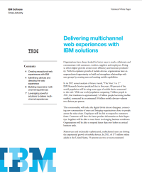 Delivering multichannel web experiences with IBM solutions