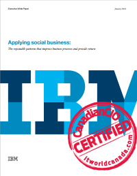 Applying social business:  The repeatable patterns that improve business processes and provide return