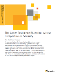 The Cyber Resilience Blueprint: A New Perspective on Security