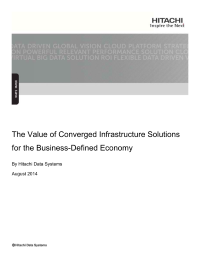 The Value of Converged Infrastructure - Solutions for the Business-Defined Economy