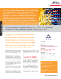 Accadis Case Study With Hitachi Technologies