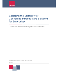 Exploring the Suitability of Converged Infrastructure Solutions for Enterprises