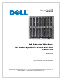Dell PowerEdge M1000e Modular Enclosure Architecture