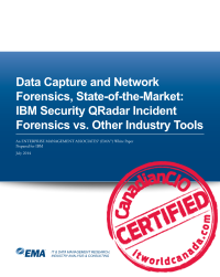 Data Capture and Network Forensics, State-of-the-Market:  IBM Security QRadar Incident Forensics vs. Other Industry Tools