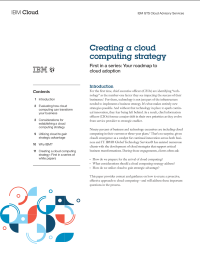Creating a cloud computing strategy