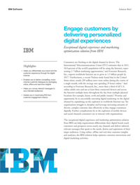 Engage customers by delivering personalized digital experiences