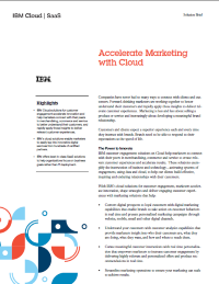 Accelerate Marketing with Cloud