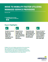 Move to Mobility Faster Utilizing Managed Service Providers