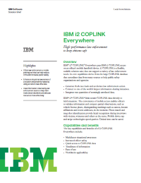 IBM i2 COPLINK Everywhere.  High-performance law enforcement to keep citizens safe