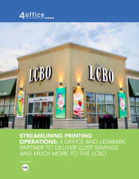 Case Study:  Savings and Efficiencies with Managed Print Services