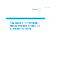 Application Performance Management Is Critical To Business Success