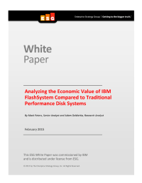 Analyzing the Economic Value of IBM FlashSystem