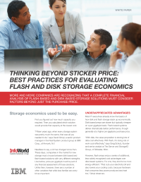 Thinking Beyond the Sticker Price: Best Practices for Evaluating Flash and Disk Storage Economics