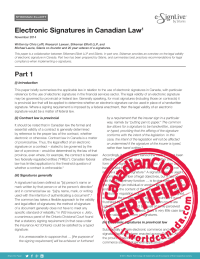 Electronic Signatures in Canadian Law