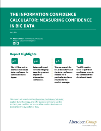 The Information Confidence Calculator:  Measuring Confidence in Big Data