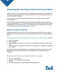 Assessing the security of cloud service providers