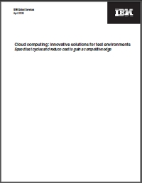 Cloud computing: Innovative solutions for test environments