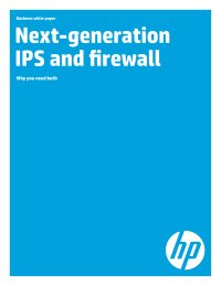 Next-generation IPS and firewall