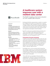 A healthcare system improves care with a resilient data centre
