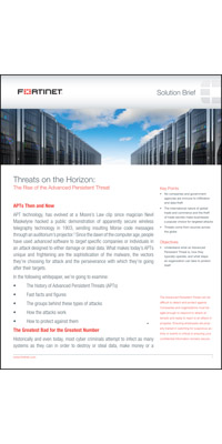 Threats on the Horizon: The Rise of the Advanced Persistent Threat