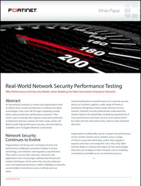 Real-World Network Security Performance Testing