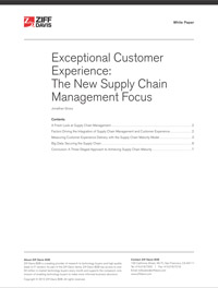 Exceptional Customer Experience: The New Supply Chain Management Focus