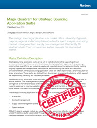 Magic Quadrant for Strategic Sourcing Application Suites