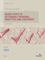 ITW280C - Seven Steps to Actionable Personal Analytics and Discovery