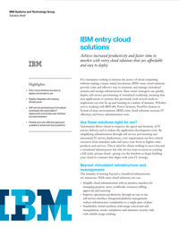 ITW287D - IBM Entry Cloud Solutions
