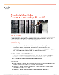 ITW3002C - Cisco Global Cloud Index: Forecast and Methodology, 2011-2016