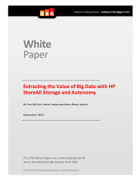 Extracting the Value of Big Data with HP StoreAll Storage and Autonomy