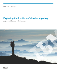 Exploring the frontiers of cloud computing