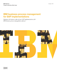 IBM business process management for SAP implementations