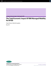 The Total Economic Impact Of IBM Mobility for Boyd