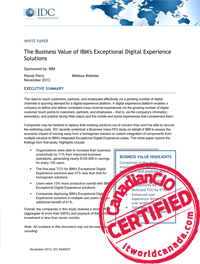 The Business Value of IBM's Exceptional Digital Experience Solutions
