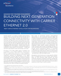 Building Next Generation Connectivity with Carrier Ethernet 2.0