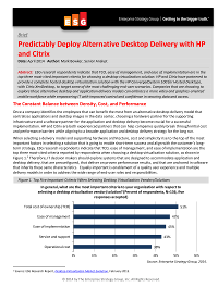Predictably Deploy Alternative Desktop Delivery with HP and Citrix