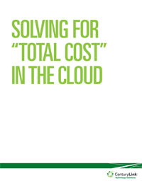 "SOLVING FOR ""TOTAL COST"" IN THE CLOUD"
