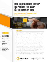 How Routine Data Center Operations Put Your HA/DR Plans at Risk