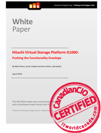 Hitachi Virtual Storage Platform G1000: Pushing the Functionality Envelope