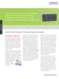 Hitachi Unified Storage VM Storage Virtualization System