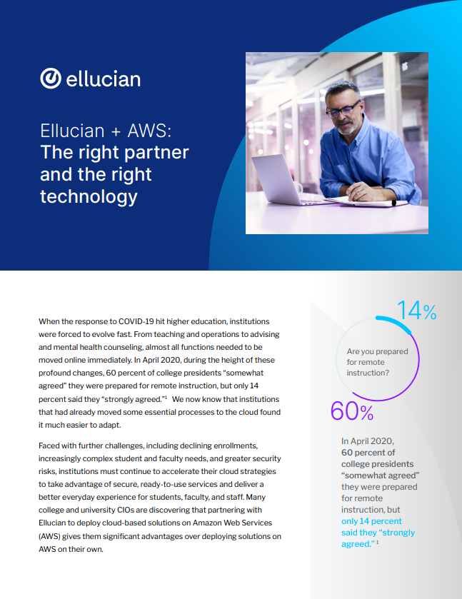 Ellucian + AWS: The right partner and the right technology
