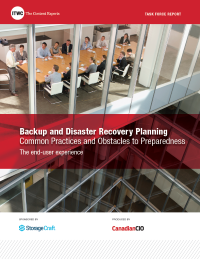 Backup and Disaster Recovery Planning  - Common Practices and Obstacles to Preparedness - The end-user experience