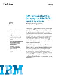 IBM PureData System for Analytics N3001-001: la mini-appliance