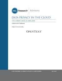 Data Privacy in the cloud Five current issues in compliance
